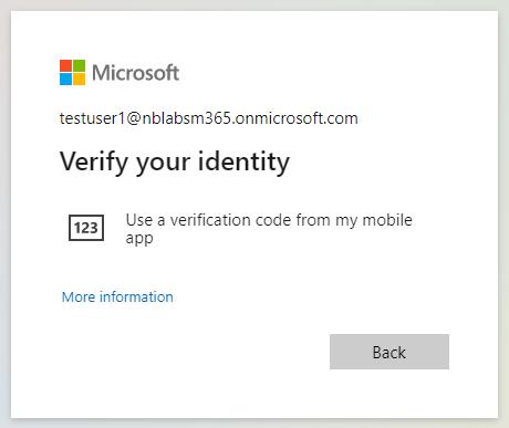 Verify through SMS
